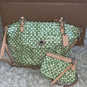Coach Purse w/ zippy coin purse